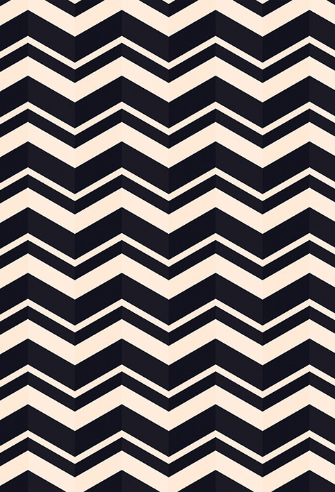 Tapete Chevron Largo Preto