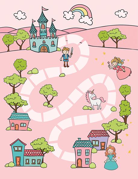 Tapete de Atividades - Castelo Colors