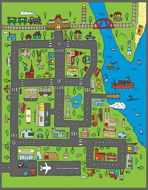 Tapete de Atividades - Infantil Cidade 180 x 140 cm