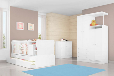 Tapete Decorativo Kids Casa Meva Azul Antiderrapante 180x140cm