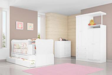 Tapete Decorativo Kids Casa Meva Chevron Rosa 140 x 180 cm