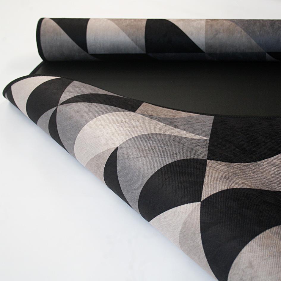 Tapete Geométrico Black & Gray