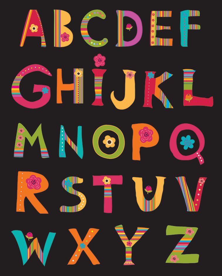 Tapete Infantil Alfabeto Caule Preto 140 x 180 cm