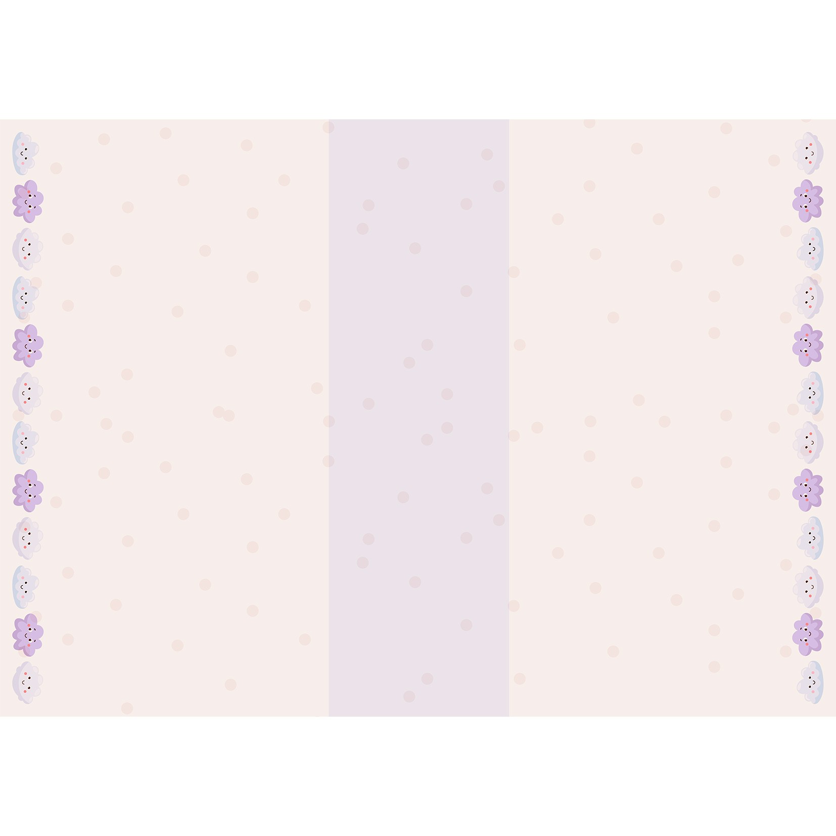 Tapete Infantil Bebê Clouds Lilac