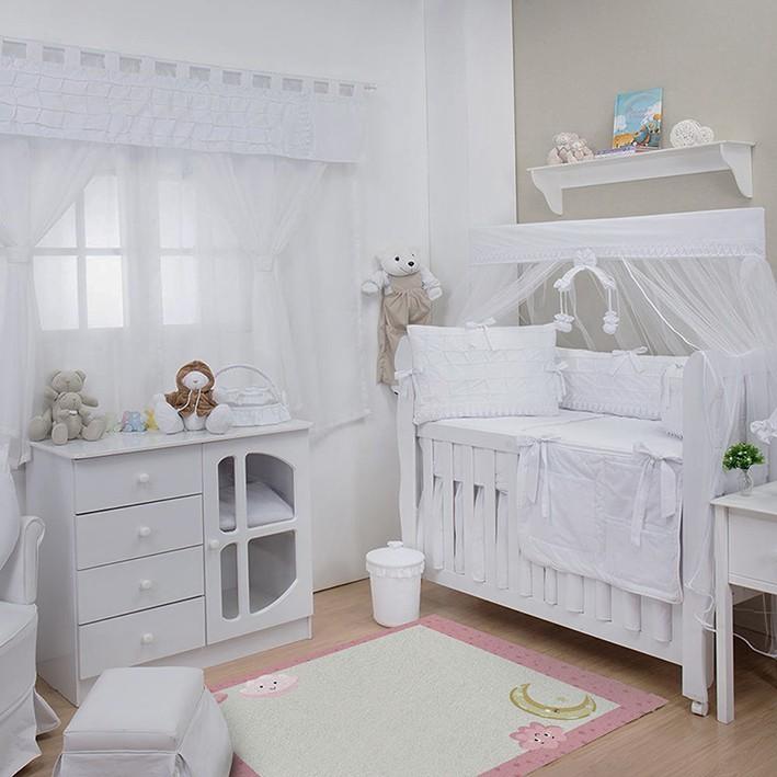 Tapete Infantil Bebê Night Pink