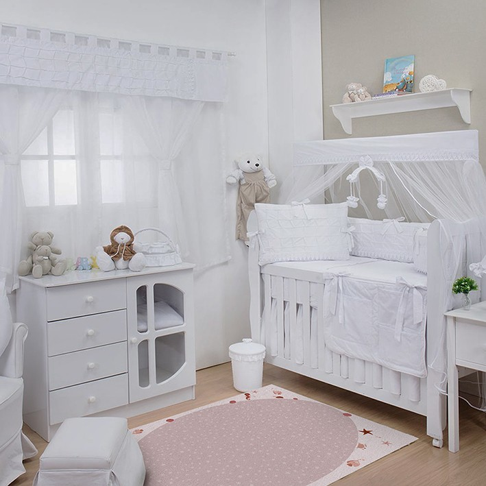 Tapete Infantil Bebê Sea Pink