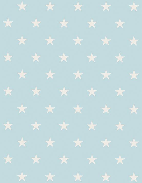 Tapete Infantil Estrelinhas Azul 140 x 180 cm