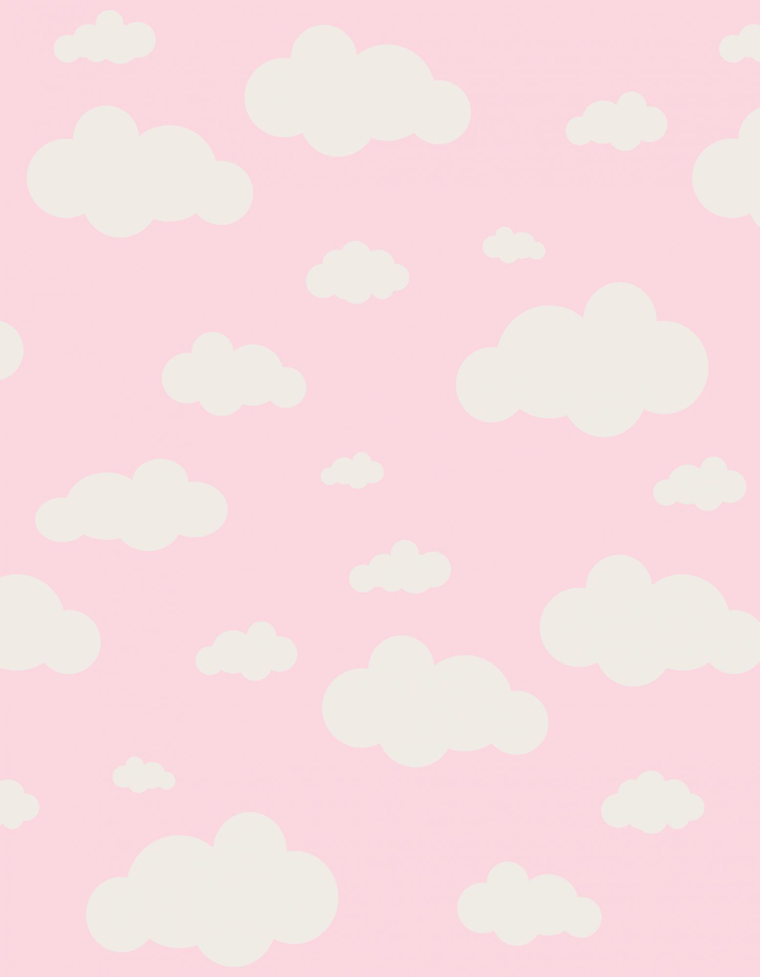 Tapete Infantil Nuvens Rosa 140 x 180 cm