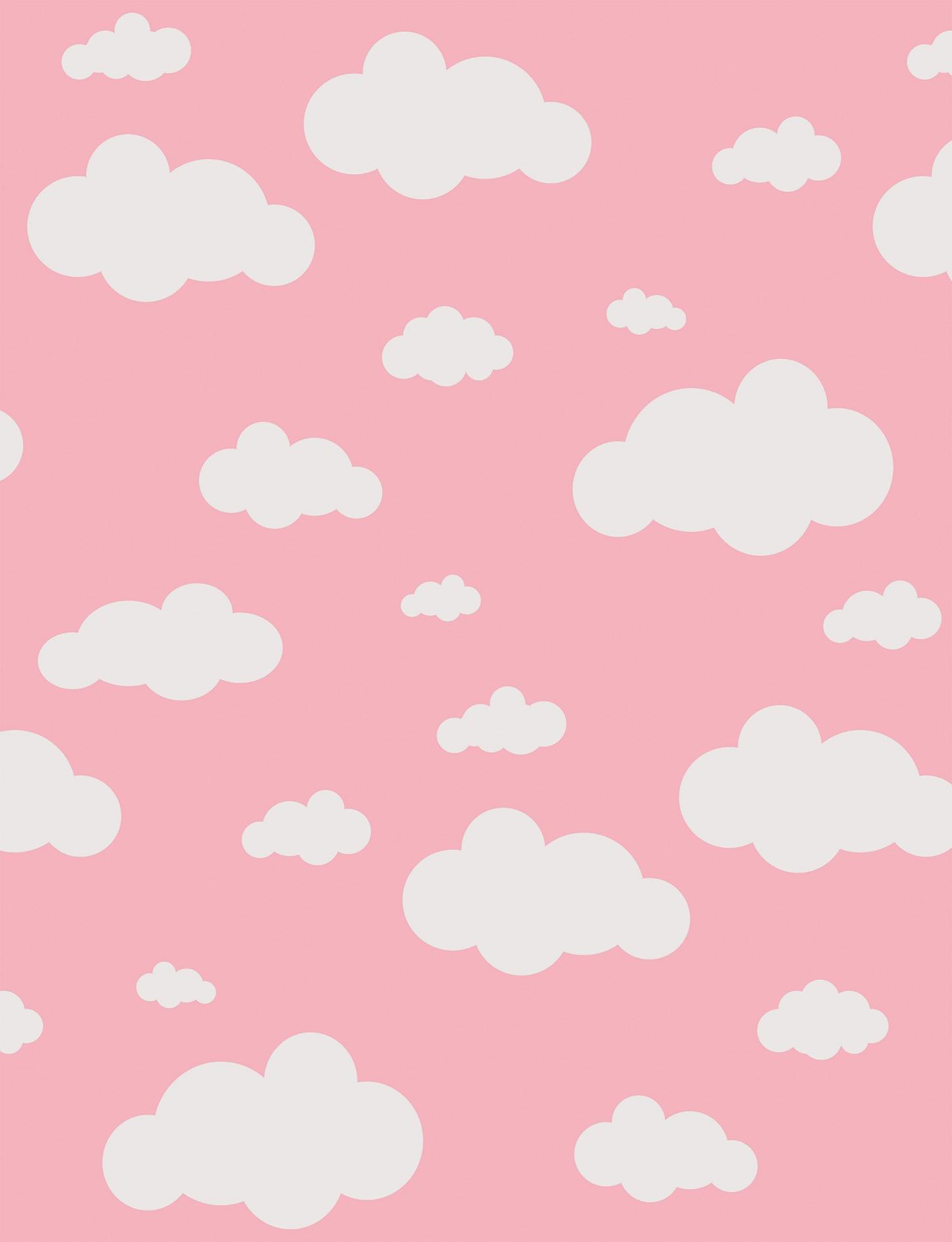 Tapete Infantil Nuvens Rosa