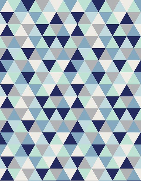 Tapete Infantil Triângulos Azuis 140 x 180 cm