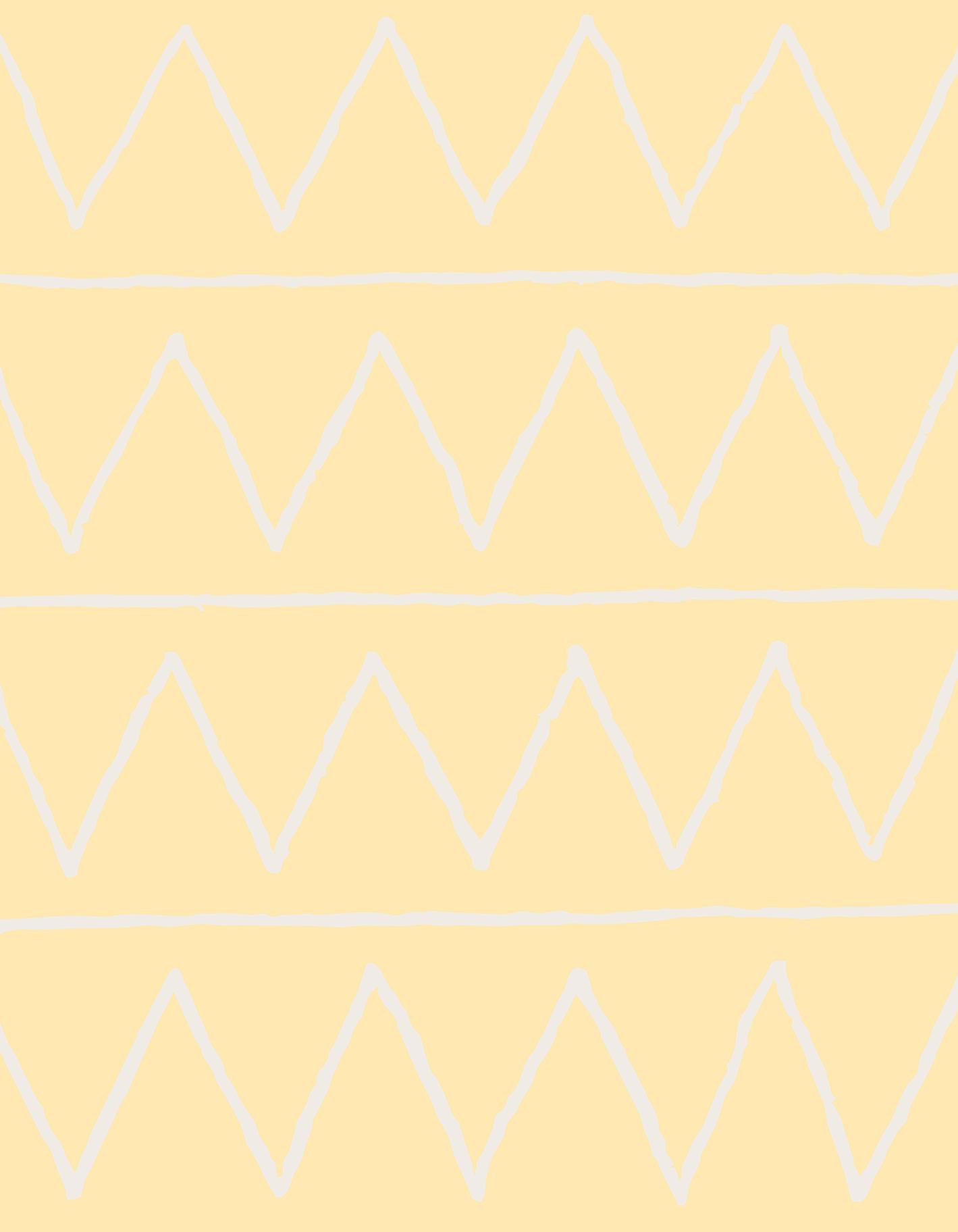 Tapete Infantil Zig Zag Amarelo 140 x 180 cm