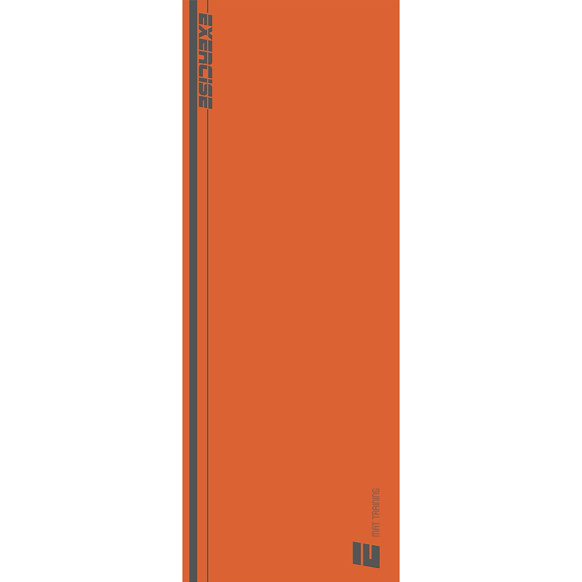 Tapete Mat exercícios laranja e cinza 0,66X1,85m