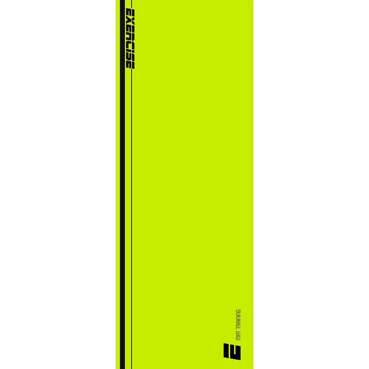 Tapete Mat exercícios neon e preto 0,66X1,85m