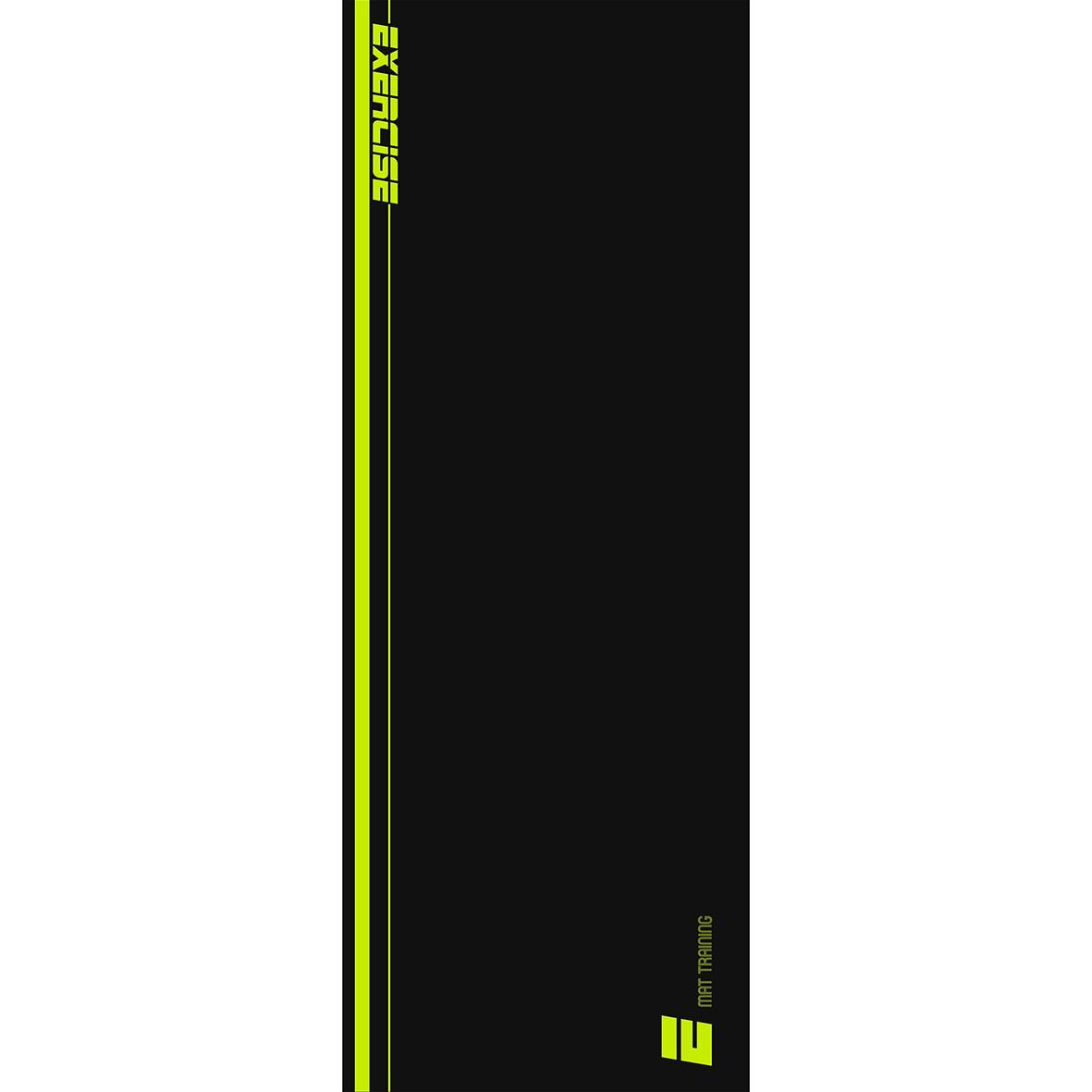 Tapete Mat exercícios preto e neon 0,66X1,85m