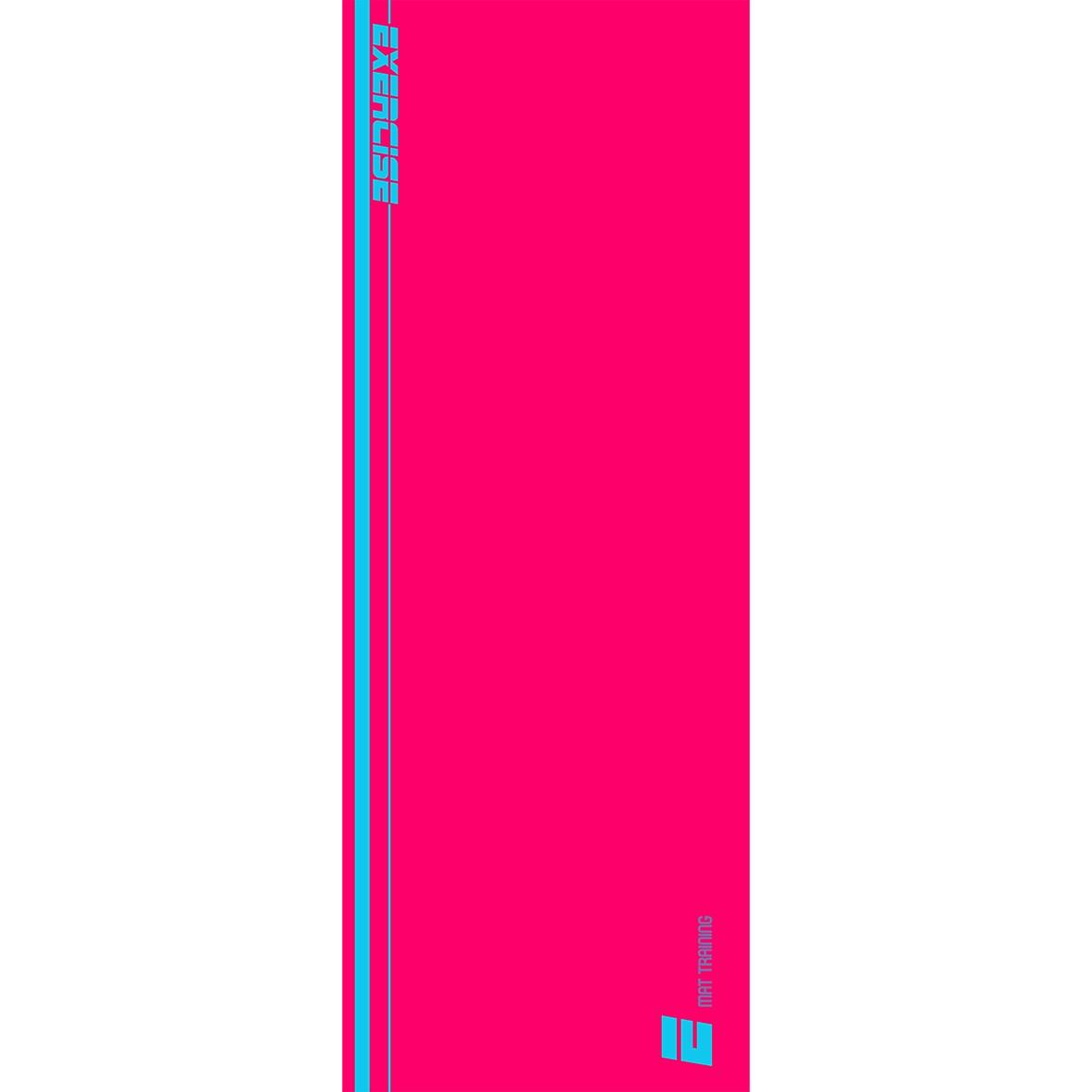 Tapete Mat exercícios rosa e azul 0,66X1,85m