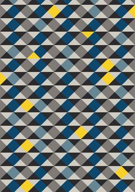 Tapete Geométricos Azuis