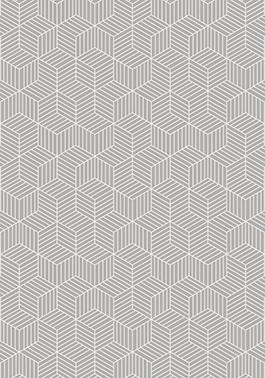 Tapete Cubos White 200 x 140 cm