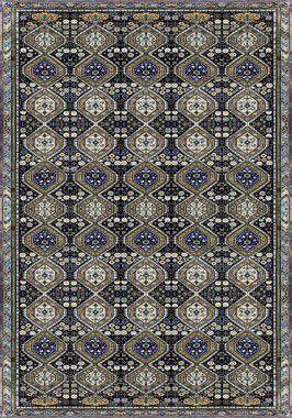 Tapete para Sala Persa Azul Antiderrapante 200 x 140 cm