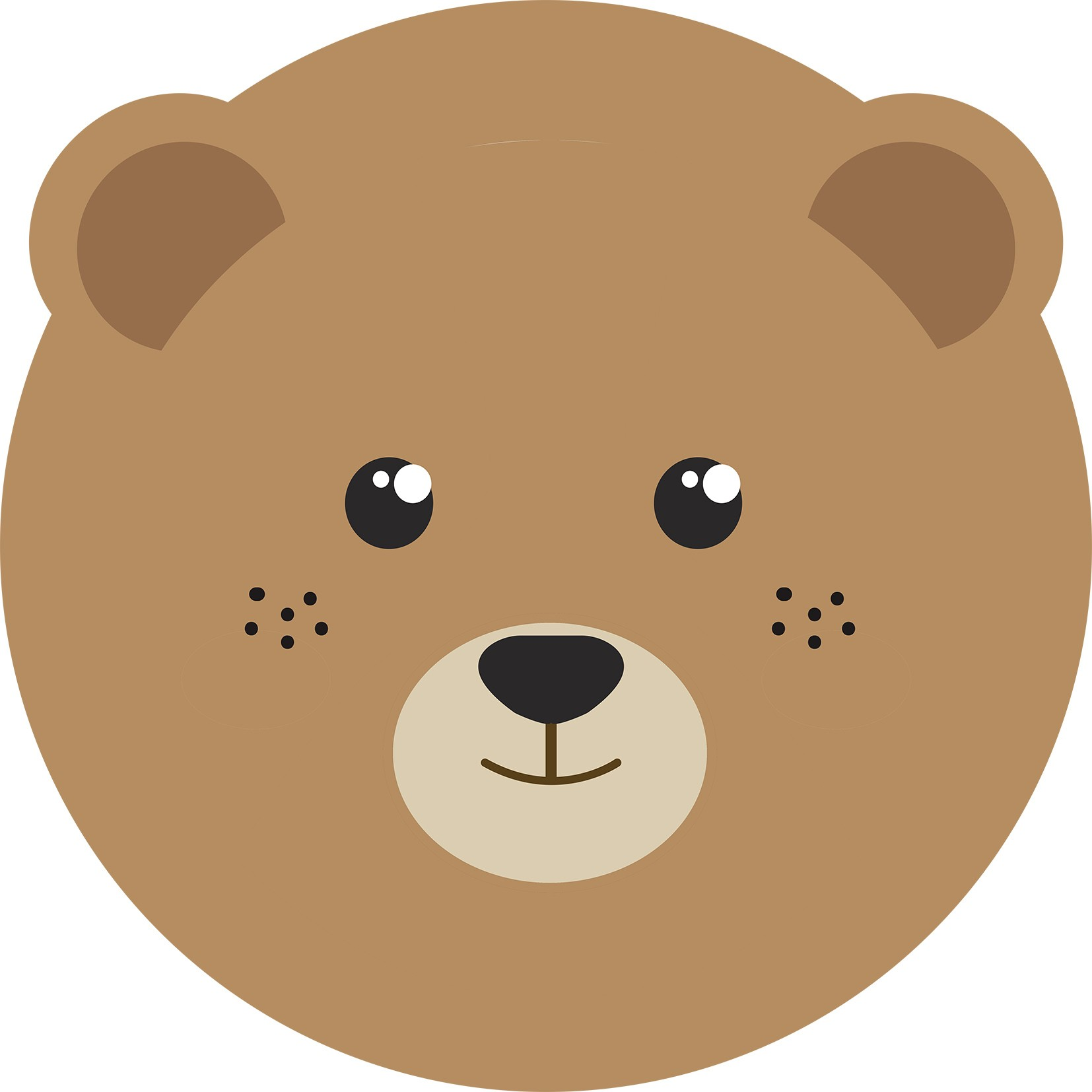 Tapete redondo Infantil Bebê Bear Face 1,40mx1,40m