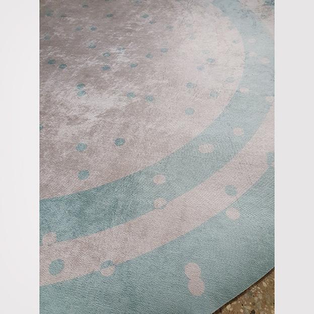 Tapete redondo Infantil Bebê Poás Blue 1,40mx1,40m