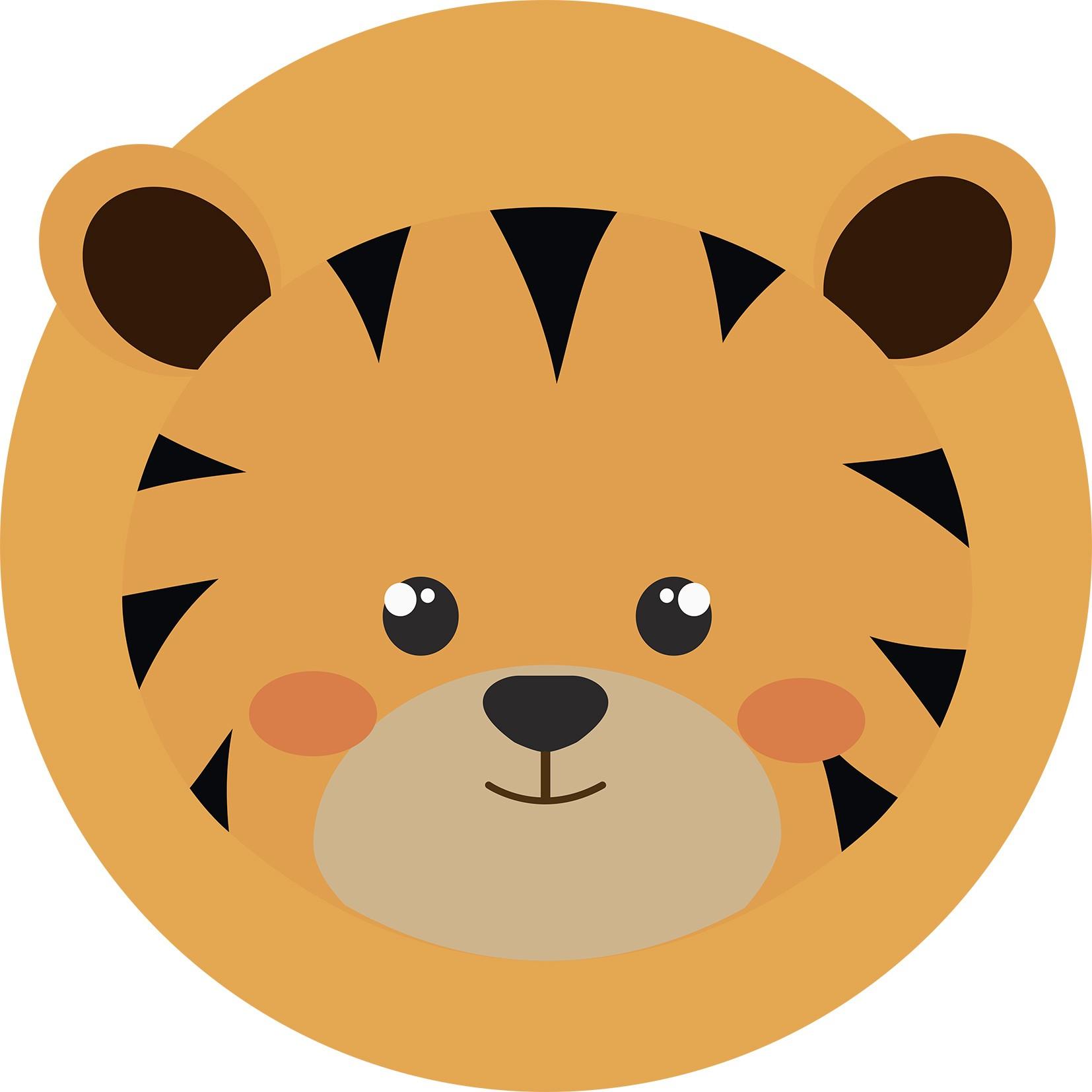 Tapete redondo Infantil Bebê Tiger 1,40mx1,40m