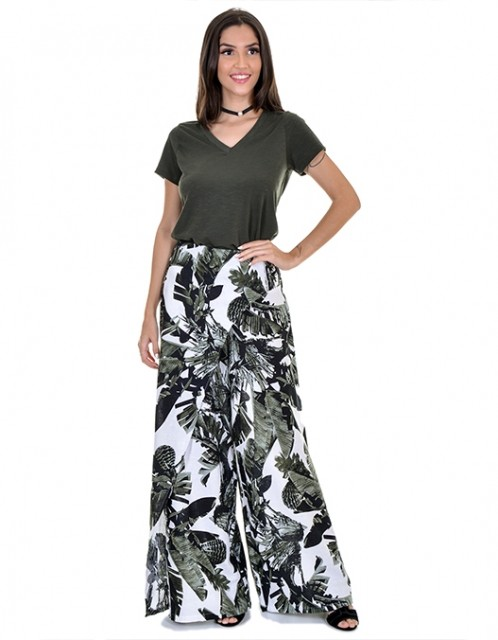 Calça OCNA BRASIL Pantalona Linho
