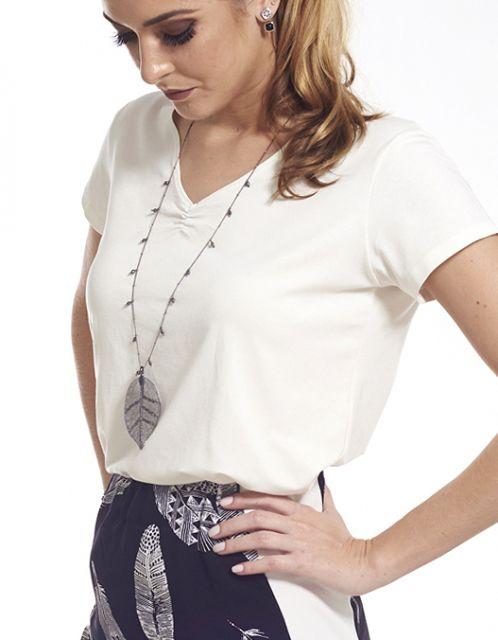 Camiseta OCNA BRASIL Básica Slin Off White