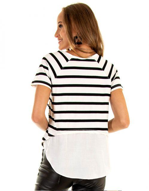 Camiseta OCNA BRASIL Listrada Branca
