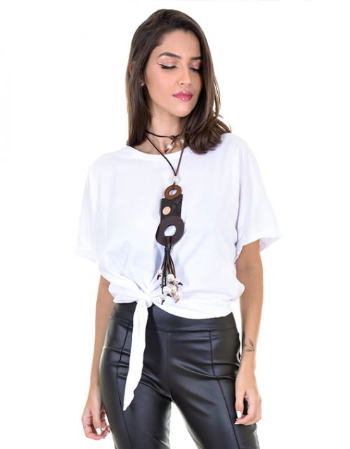 Camiseta OCNA BRASIL Nó Lateral Branca