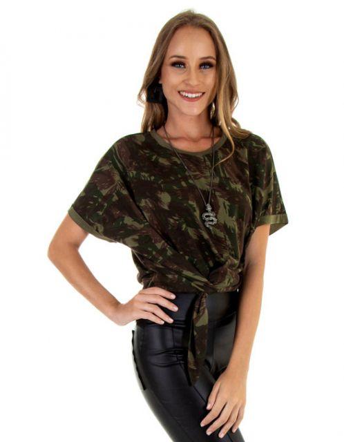 Camiseta OCNA BRASIL Nó Lateral Camuflada Verde