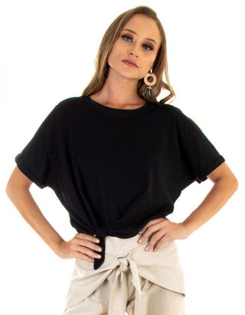 Camiseta OCNA BRASIL Nó Lateral Preta