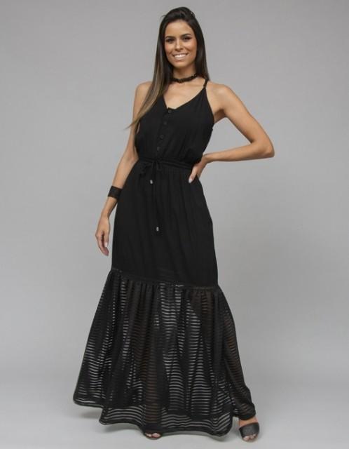 Vestido OCNA BRASIL Ginga Preto