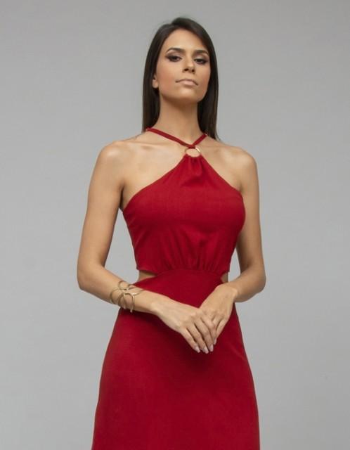 Vestido OCNA BRASIL Magnolia Argola