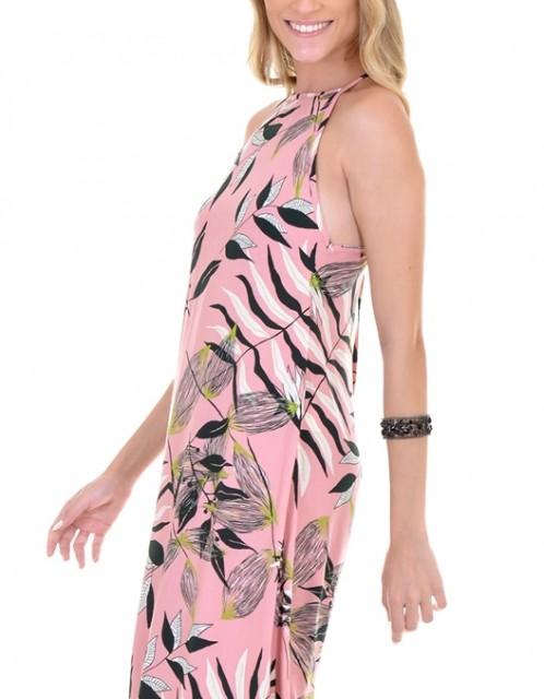 Vestido OCNA BRASIL Midi Evasê Rosa