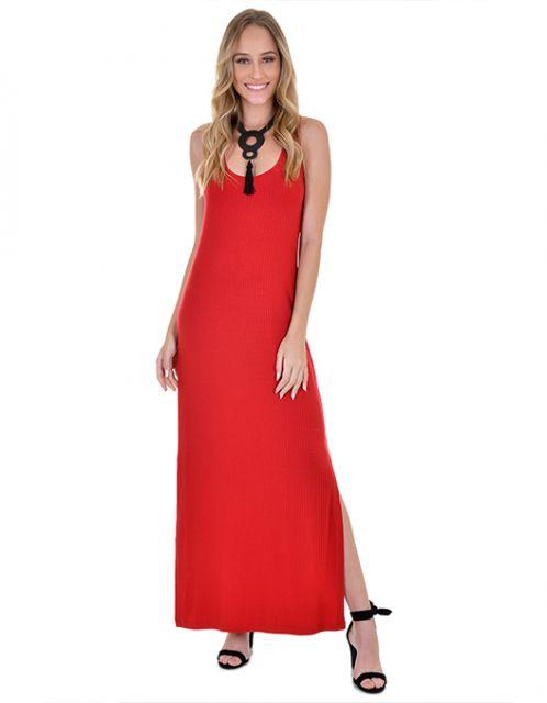 Vestido OCNA BRASIL Ribana Coringa Vermelho