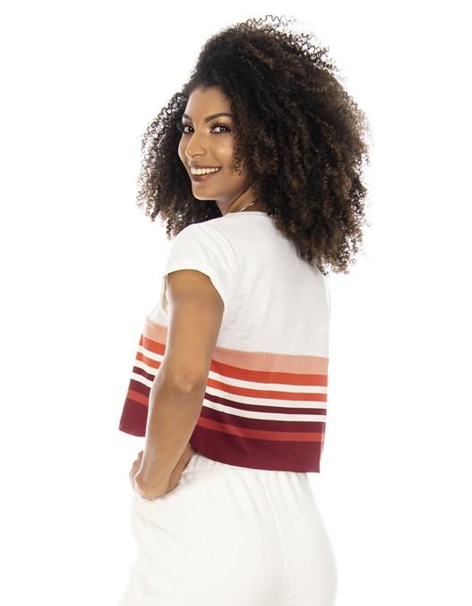 Camiseta OCNA BRASIL Cropped Listrada