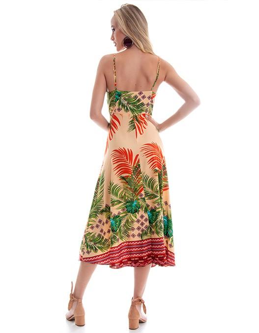 Vestido OCNA BRASIL Alcinhas Botões Frontais
