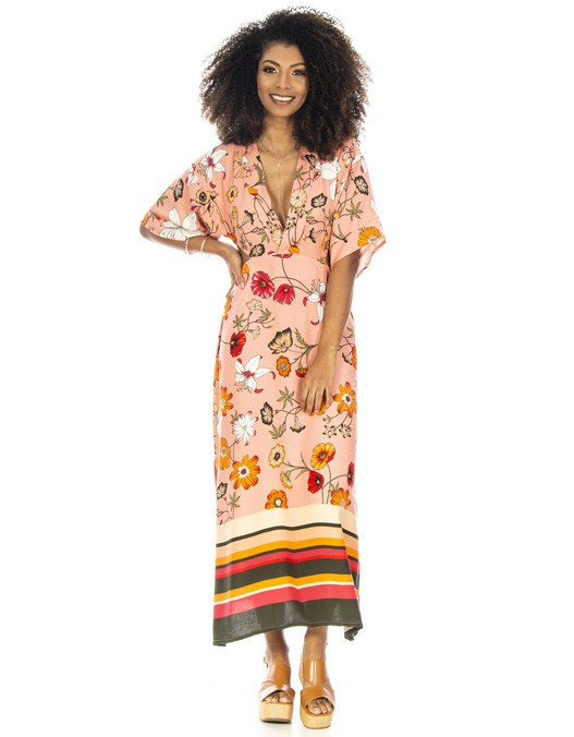 Vestido OCNA BRASIL Longo Oriental