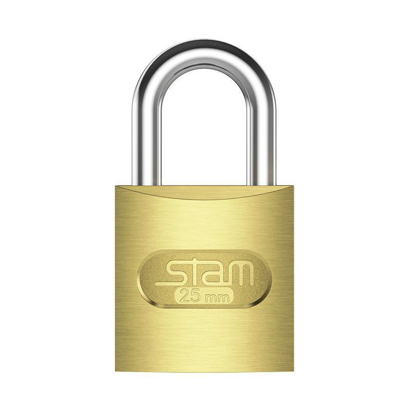 Cadeado - Stam, 25mm, Latonado, Para Portão e Armário