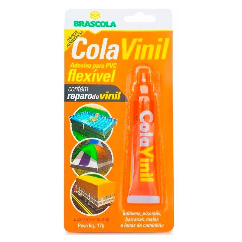 Cola Vinil - Brascola, Para PVC, Piscina, Lona, 17 Gramas