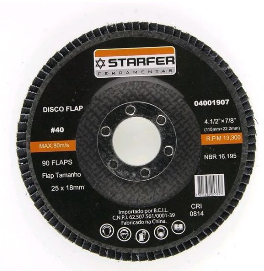 DISCO FLAP 4.1/2  40 - STARFER
