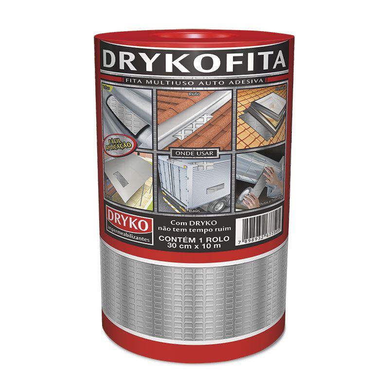 Manta - Aluminizada, Asfáltica, Para Telhado, 30cmx10M, Dryko
