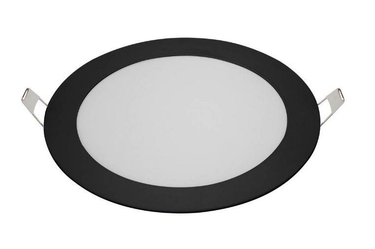 PLAFON LED 12W - EMBUTIR REDONDO PRETO - BLUMENAU