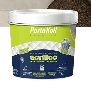 REJUNTE- ACRÍLICO PREMIUM PORTKOLL -  CINZA ÁRTICO PLUS, 1kg