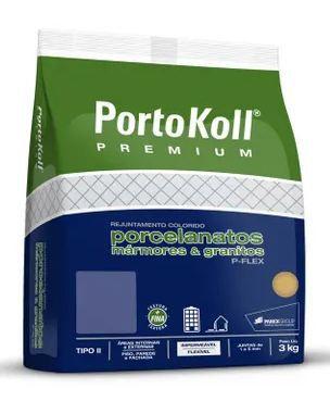 Rejunte - Multiuso Extrafino , Portokoll, Cinza Platina, 3kg