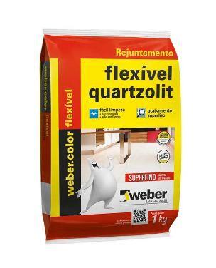 Rejunte - Multiuso Extrafino, Quartzolit, Cinza Outono, 1kg