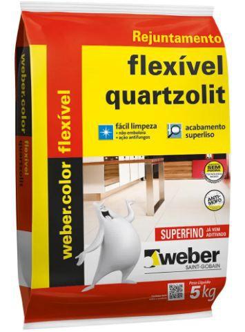 Rejunte – Multiuso Extrafino, Quartzolit, Cinza Outono, 5kg