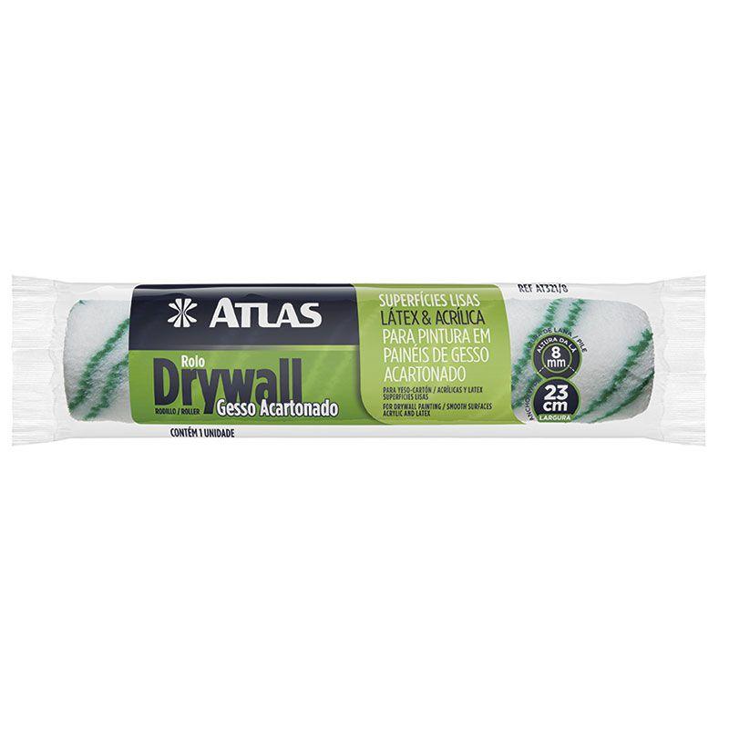 Rolos de Lã - Sintética, 23cm, Drywall, Atlas