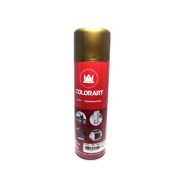 Tinta Spray - Dourado, Colorart, Alta Temperatura