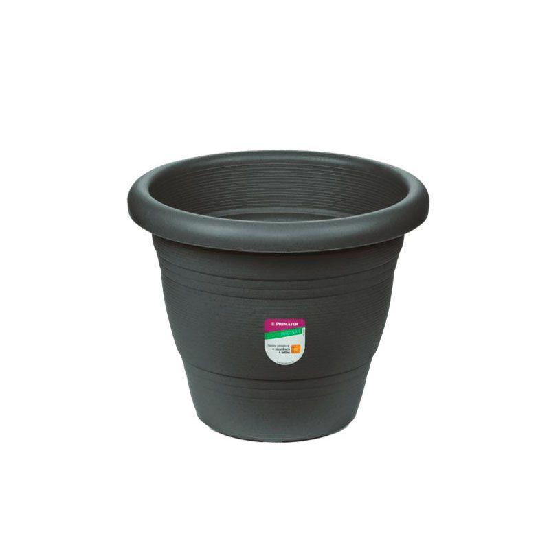 Vaso para Plantas - Plástico, Atlas, 13cm, Cinza, Novo